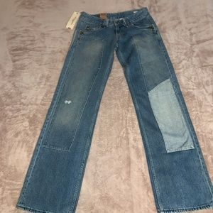28M Levis Ranchy 2 Toned Patchy Jeans NWT